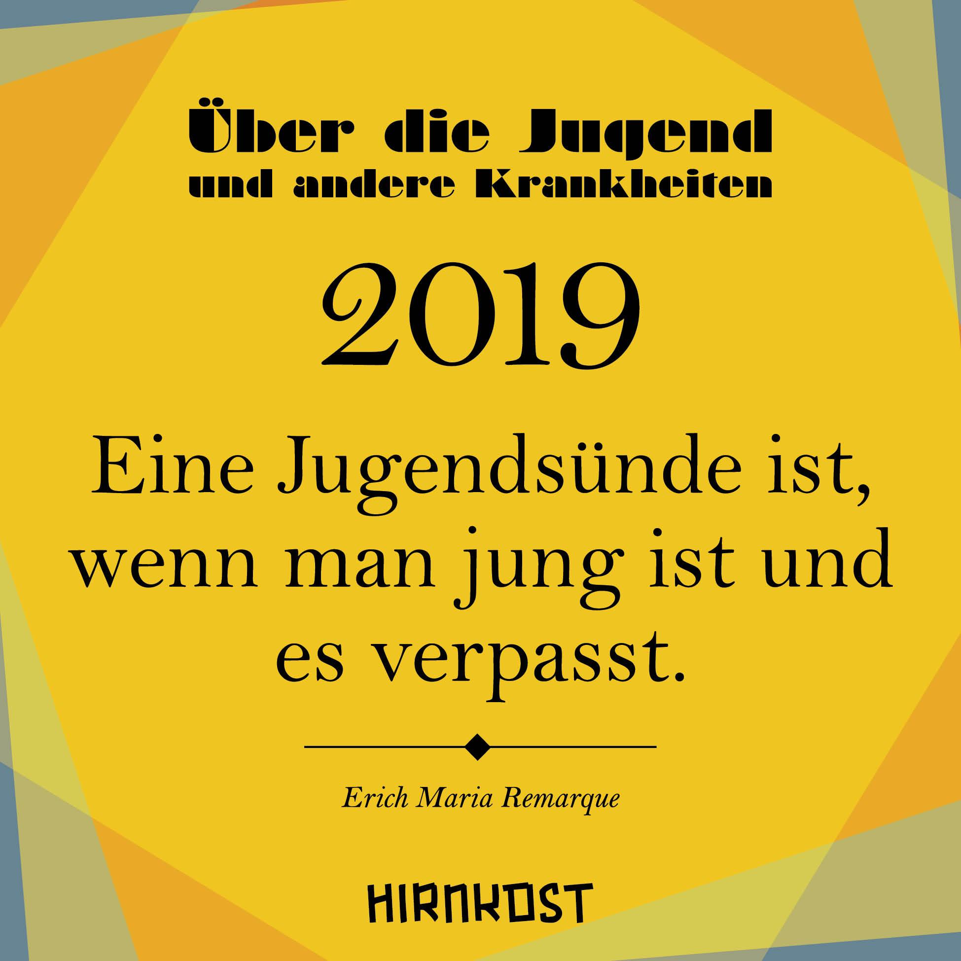 Kalender – Über die Jugend 2019