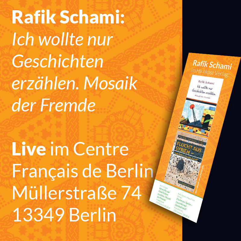 Rafik Schami – Ticket – 5. März in Berlin